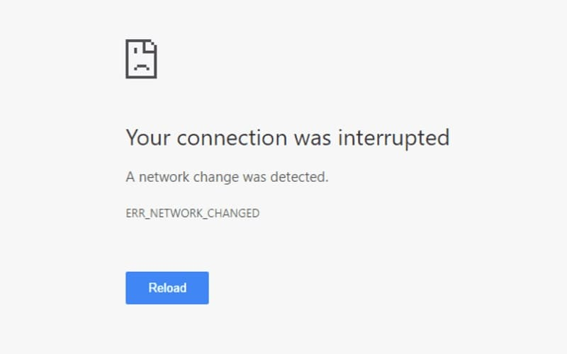 Como Corrigir Erro err_network_changed no Chrome